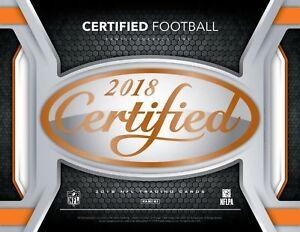Verzamelkaarten, ruilkaarten 2018 Panini Certified Football Base COMPLETE YOUR SET You Pick #1-100 STARS!
