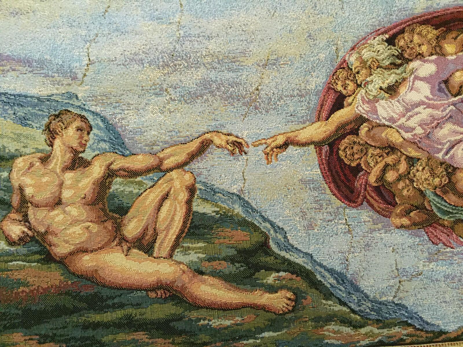 Wandteppich aus  Gobelin Michelangelo - Creazione di Adamo 50 x 70 cm Neu | Clearance Sale
