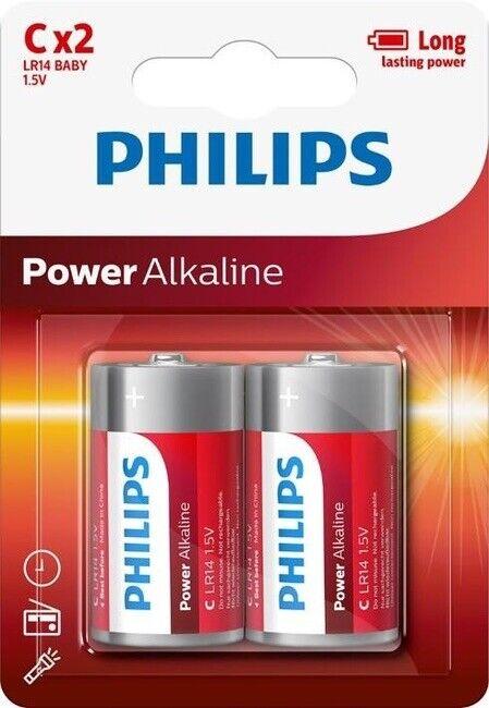 1,5V ALKALINE battery LR14 PHILIPS POWERLIFE C C-LR14P2B/05 2