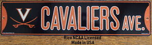 Street-Sign-Cavaliers-Ave-NCAA-Lic-colorful-picture-University-of-Virginia