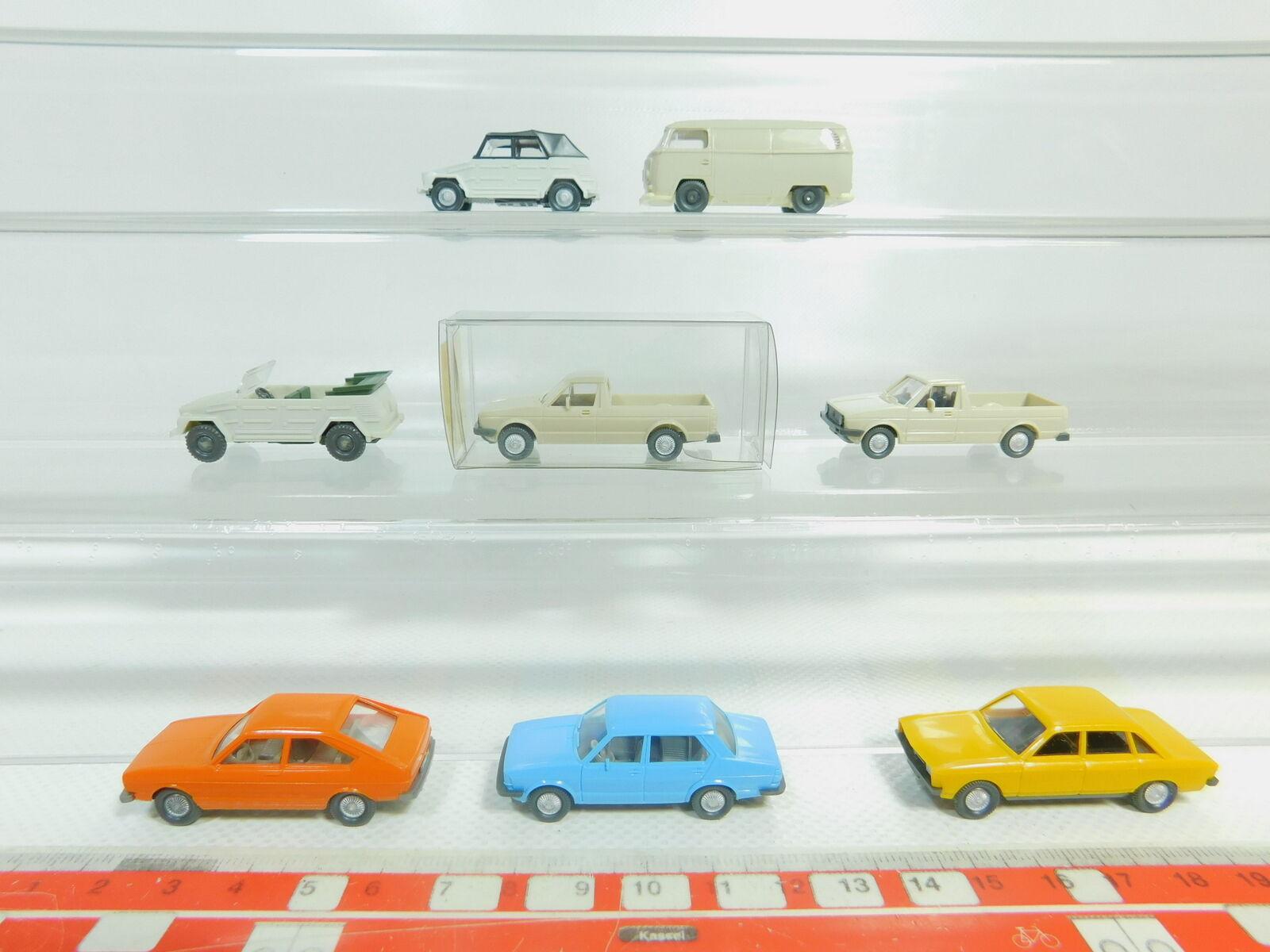 BO580-0,5   8 x Wiking H0 1 87 Autovettura Ecc. VW   T2 + 047 Caddy + Passat
