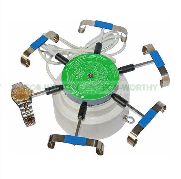Automatic Uhren Test Testing 6 Watch Tester Test Uhren Winder Repair Maschine Uhrmacher EU 713433