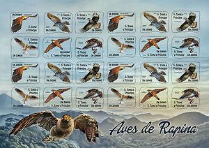 Sao Tome & Principe 2016 MNH Birds of Prey 24v S/A M/S Hawks Eagles Kites Stamps