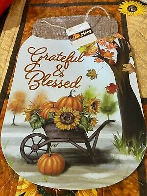 Inspired Wall Sign Decorative Hanging Autumn Sentiments Signs 9 x 13