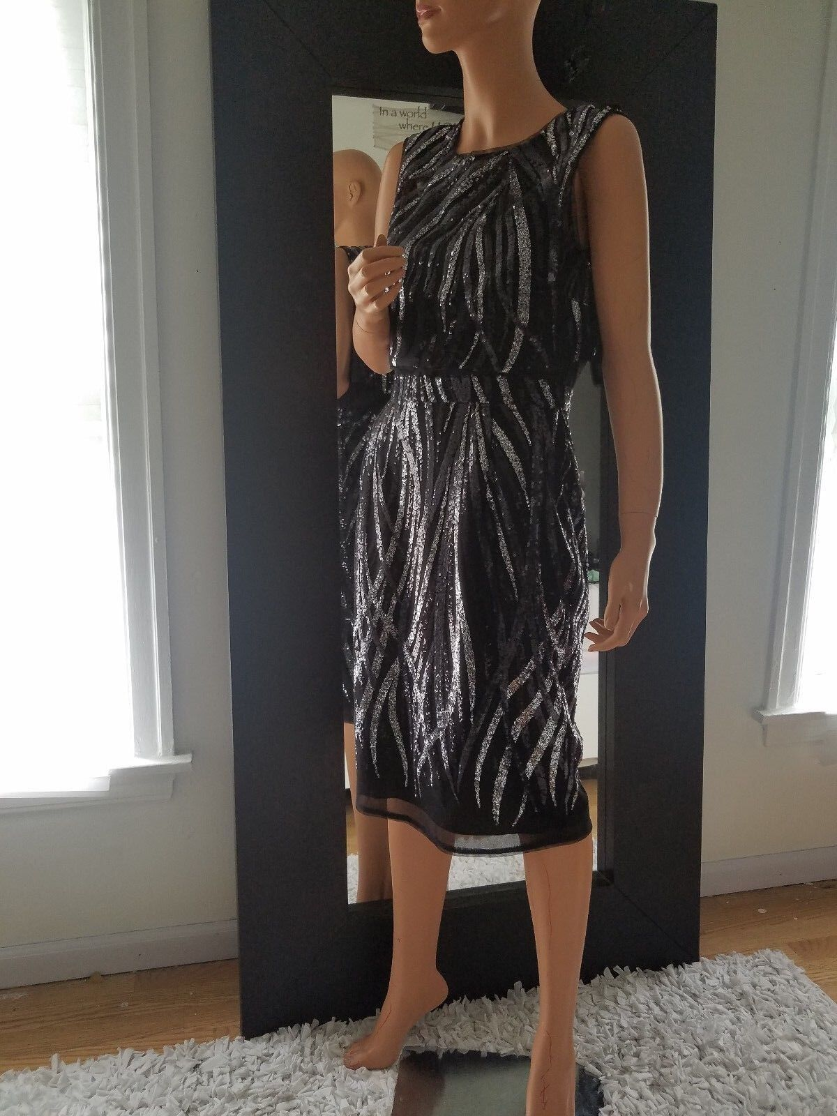 BCBGMAXAZRIA sequined dress  8