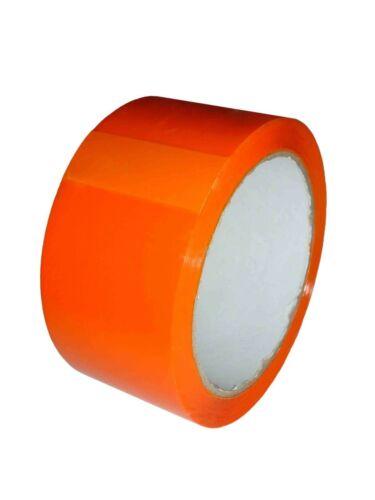 1 x Roll Of Orange Coloured Packing Parcel Tape 48 mm x 66 m FREE DELIVERY