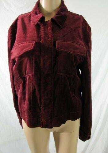 BB Dakota Red Velvet Jacket Blazer Size Large - image 1