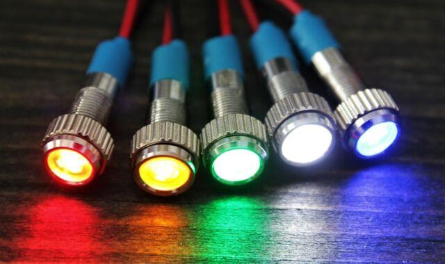 8mm Neon Pilot-Signal-Licht-Kontrollleuchte 220V AC Grün 10 Stk