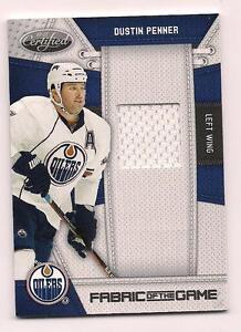 2010/11 Certified Jersey Dustin Penner Edmonton Oilers #114/250