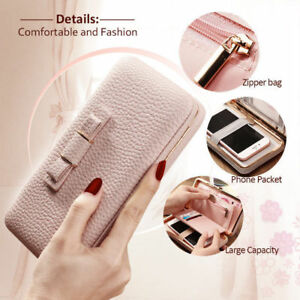 Women-039-s-Handbag-Purse-Pouch-Wallet-Clutch-Card-Cover-Case-for-iPhone-amp-Samsung