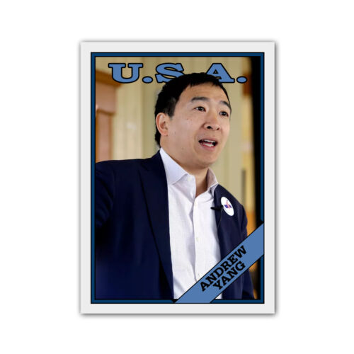 Andrew Yang Novelty Art Custom 1988 Style Presidential Baseball Card Democrat