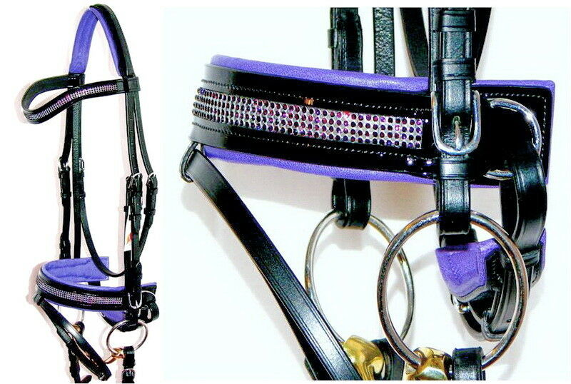 FSS GLISTEN Curve Curve Curve U CRYSTAL AMETHYST BLING lila German Comfort PATENT Bridle acf812