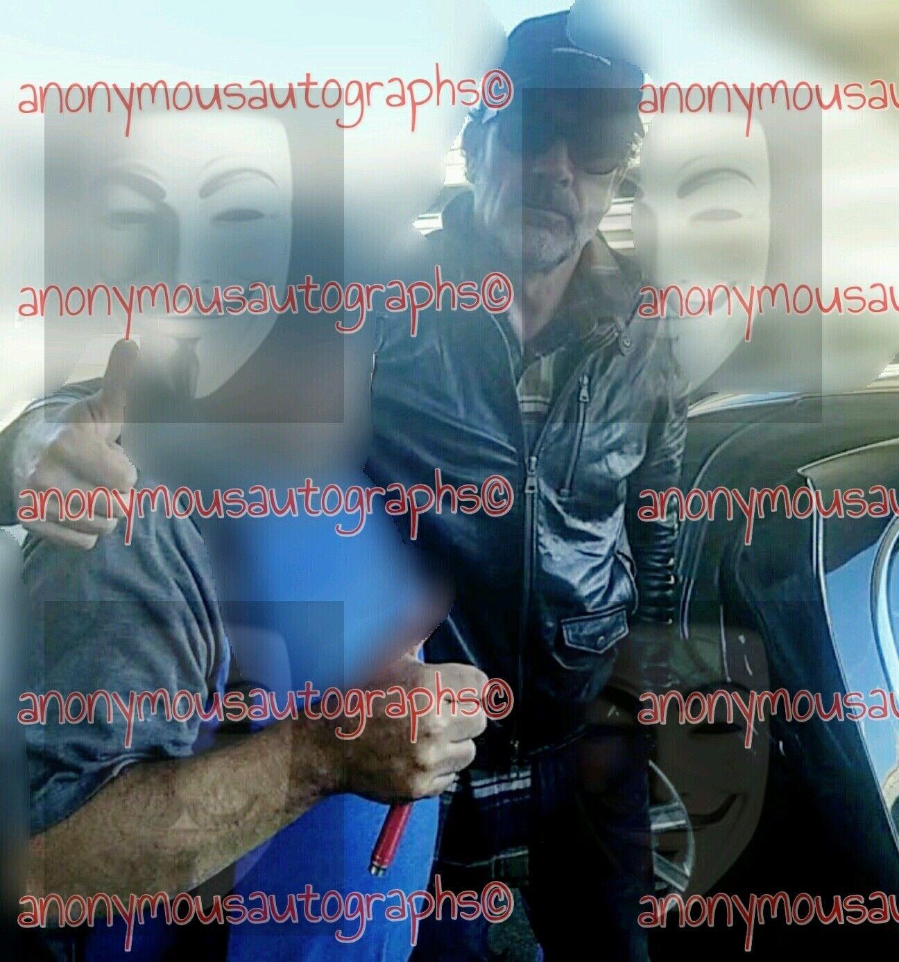 The Walking Dead Comic Negan Jeffrey Dean Morgan Signed Series Figure - Series Signed 5 W/COA 38a538