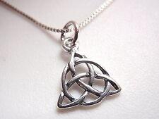 Small Celtic Triangle Pendant 925 Sterling Silver Corona Sun Jewelry