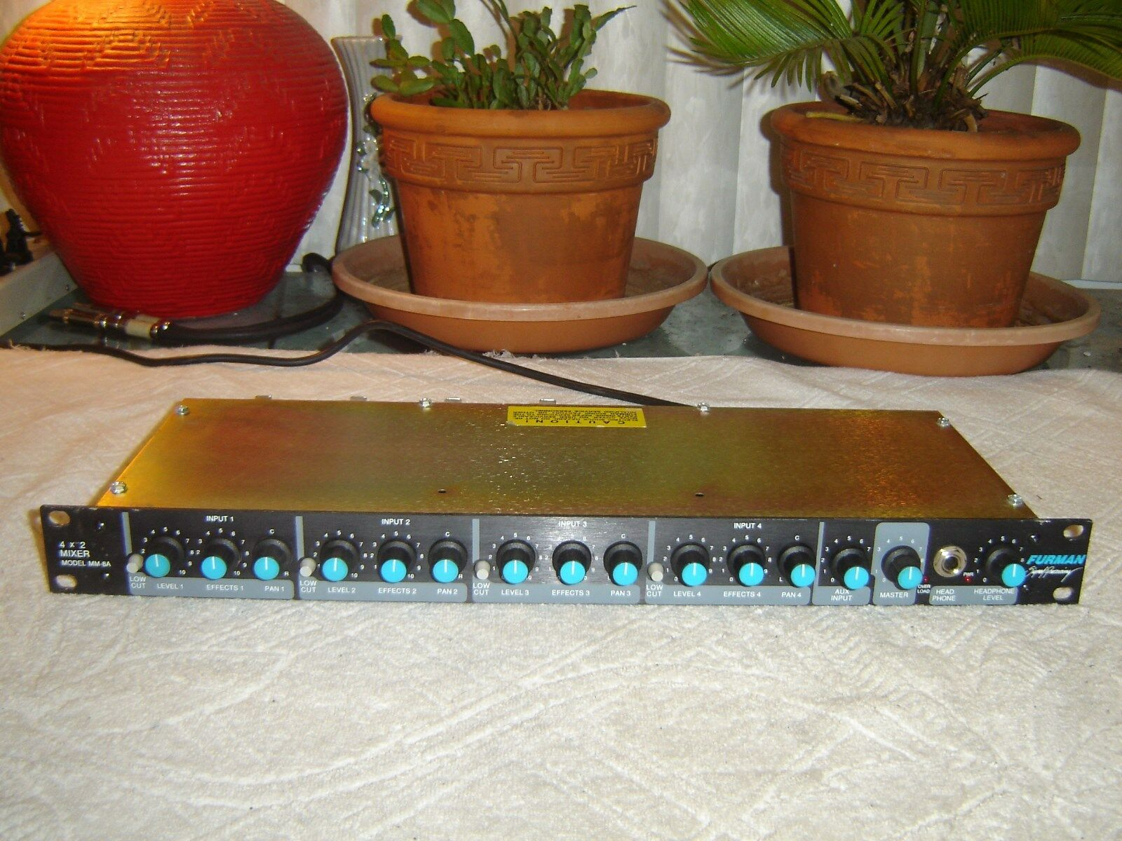 Furman MM-8A 4x2 Mixer, 4 Channel Mixer, Preamp, Vintage Rack