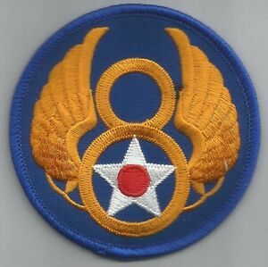 8th AIR FORCE - ARMY MILITARY PATCH - Eighth Air Force USAF | eBay