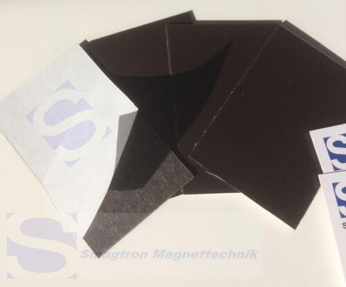 5 x Visitenkarten Magnetfolie 0,7mm x 55mm x 90mm Magnetfolien selbstklebend