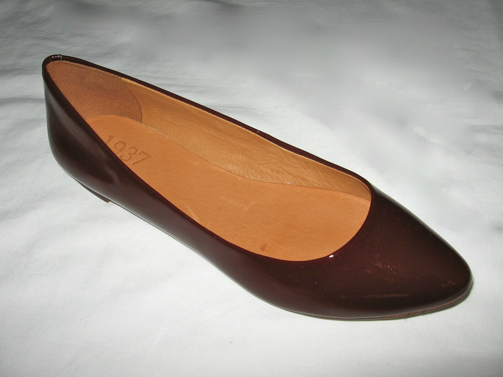 da non perdere! Madewell New in Box Patent Leather sidewalk skimmers scarpe scarpe scarpe Colore Canterbury Red  in vendita scontato del 70%