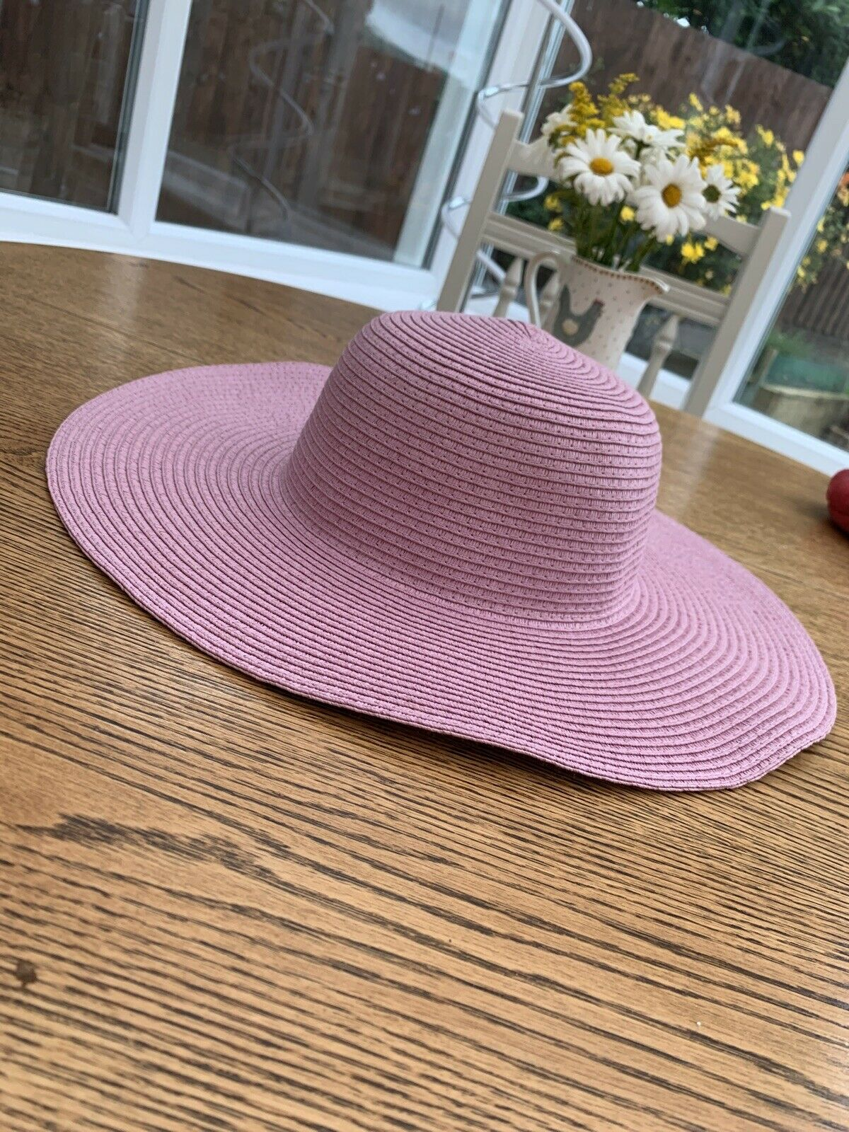 anthropologie Floppy Hat RRP Lilac Purple Pink