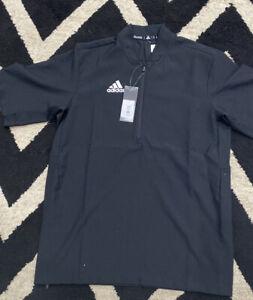 Adidas Team Iconic SS 1/4 Zip Cage Jacket 653TA Men's S Baseball BLACK NWT $65