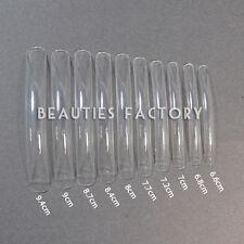 100 Long Acrylic UV Gel French False Nail Art Care Salon Tips CLEAR #L02Nails