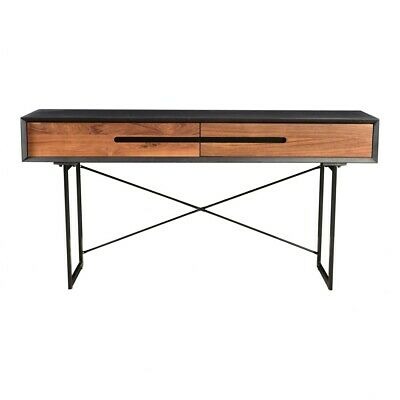 Awe Inspiring 60 W Faith Console Table Reclaimed Teak Doors Mango Wood Modern Steel Legs Ebay Inzonedesignstudio Interior Chair Design Inzonedesignstudiocom