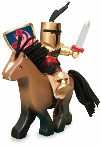 Le Toy Van TRADITIONAL TOYS BROWN WOODEN HORSE WITH SADDLE Wooden Toy BN