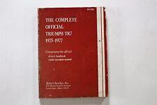 The Complete Official Triumph TR7 1975-77 Driver's Handbook, Repair Manual