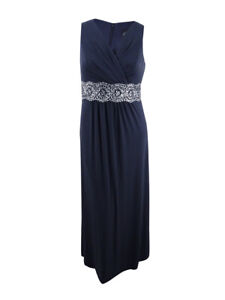 Alex-Evenings-Women-039-s-Embellished-Surplice-Gown-10-Dark-Grey