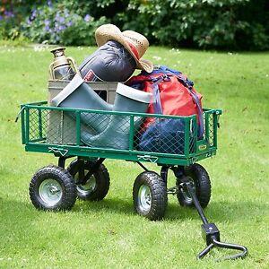 Garden trolley cart wheel barrow heavy truck duty all for Garden tools for 4 wheeler