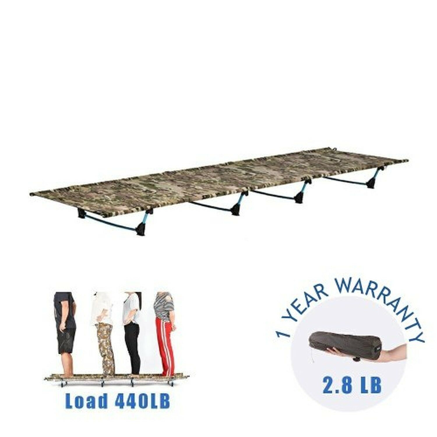 DESERT WALKER Camping Cots, Outdoor Bed Ultra Lightweight Bed Portable cot Fr...