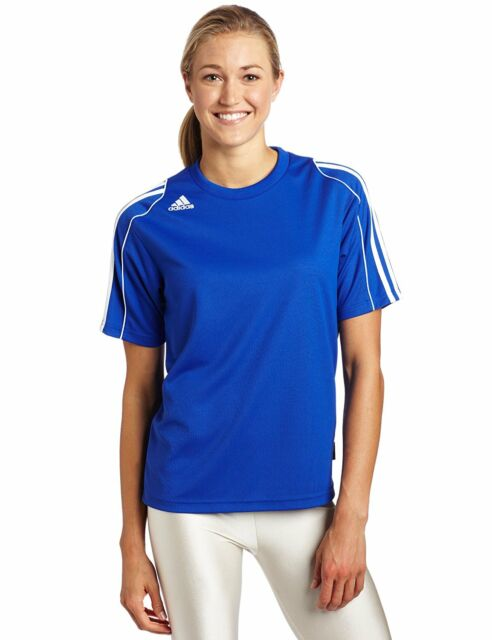 Buy adidas Climalite Womens Soccer Team Jersey Large Blue Workout ... 4f0c879543