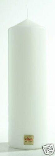 STUMPENKERZE 210 x 70 mm Stumpe Stumpen Kerze von EIKA in weiß WEISS 21