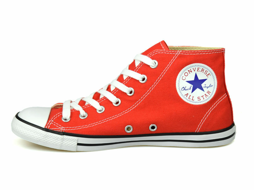 Converse Chuck Taylor Dainty Mid Carnival Red UK 3-5.5