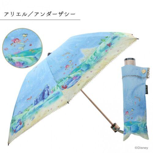 New Disney The Little Mermaid Ariel Folding Umbrella Parasol Canvas 50cm Japan