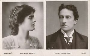 POSTCARD   ACTRESSES   Gertrude  Elliott   and  Forbes  Robertson