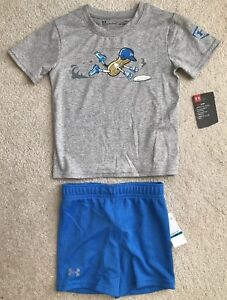 NWT UNDER ARMOUR BOYS HEAT GEAR PATTERNED SHORTS SIZE 18 MONTHS MSRP $22.99
