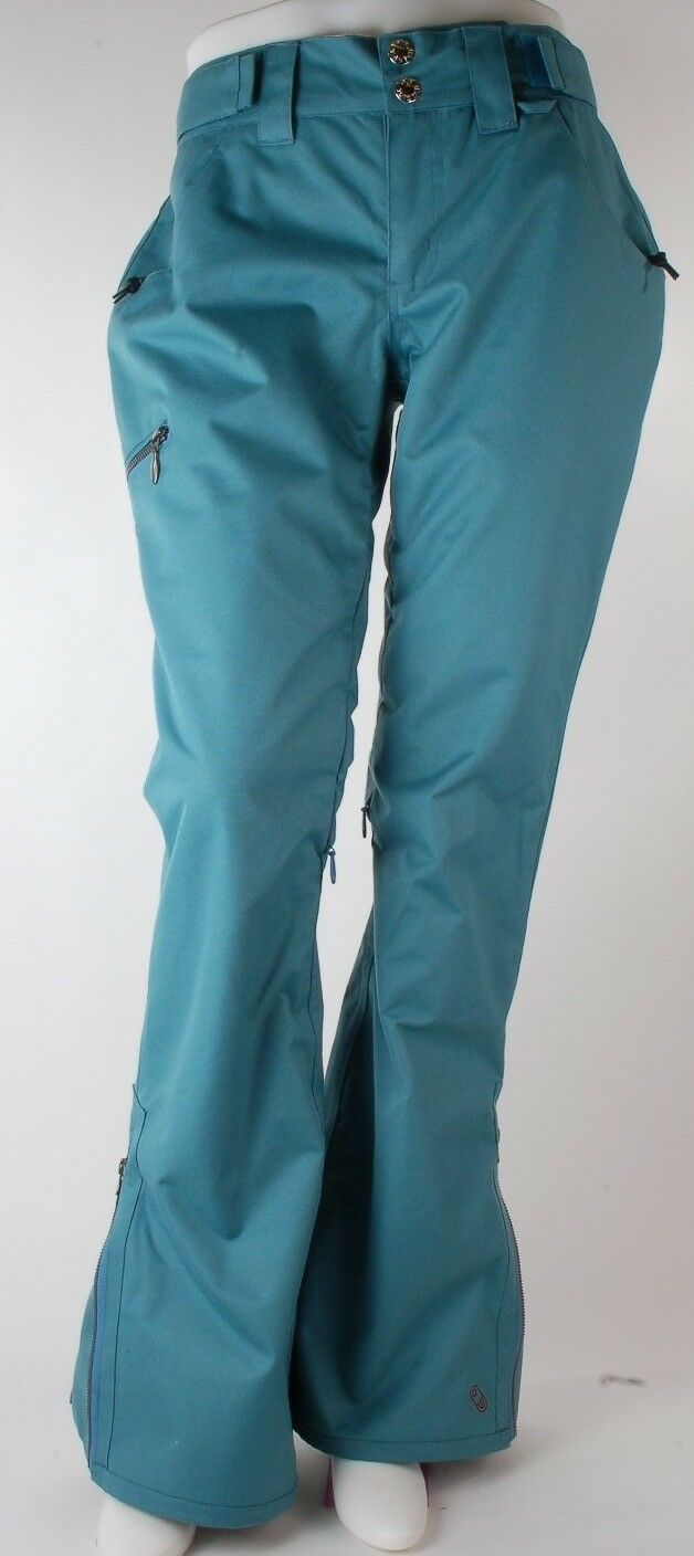 2015 NWOT WOMENS AIRBLASTER  BWP BredHERS WORK SNOWBOARD PANTS  210 M storm bluee  not to be missed!