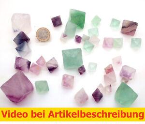 7301 500 gr Fluorit 38St Spaltoktaeder Fluorite Octahedron diamond MOVIE