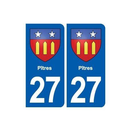 27 Pîtres blason autocollant plaque stickers ville arrondis