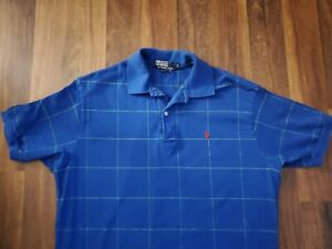 Mens-EUC-Shirt-POLO-RALPH-LAUREN-Blue-MINT-Large-L