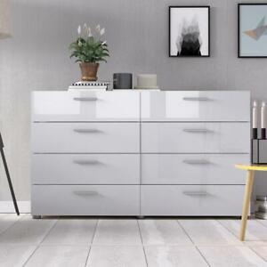 Large Modern 8 Drawer Double Dresser