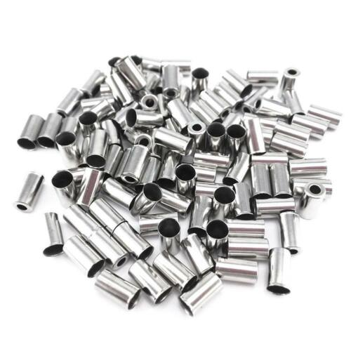100x Housing End Caps Bike Ferrule Ferrules.Brake Cable Coppe Metal Y5T7 W7O2