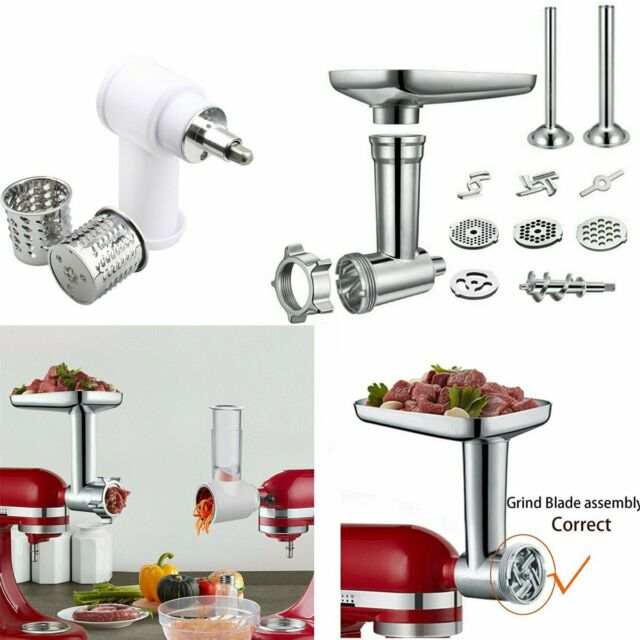 For KitchenAid Stand Mixer Meat Grinder Food Slicer Chopper Attachment  Parts JBE