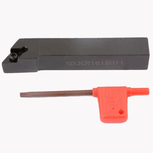 1pcs SDJCR1616H11 16x100mm Lathe External Turning Tool Holder For DCMT11T3
