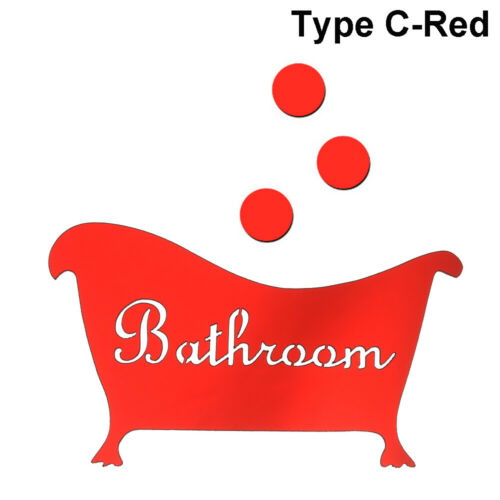 Funny WC Decoration Removable Washroom Poster 3D Wall Stickers Woman /& Man HOT/_