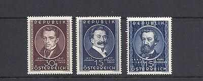 scott 560-2 Austria 1949 Music Theme Vf Mlh