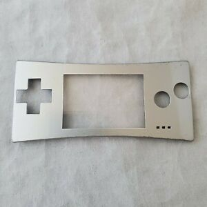 Game-Boy-Micro-Silver-Original-Genuine-OEM-Nintendo-Faceplate-gameboy-face-plate