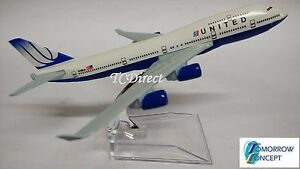 16cm-1-450-United-747-Airline-Airplane-Aeroplane-Diecast-Metal-Plane-Toy-Model