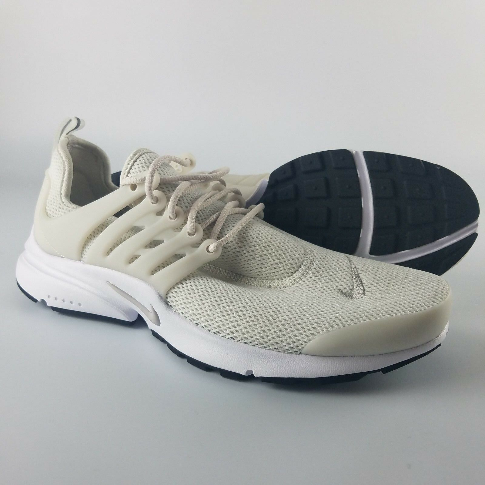 meet 2b5a3 8cba8 Nike Nike Nike Air Presto Running Shoes Women s Size 10 Light Bone Iron Ore  Black White 9e1fd2